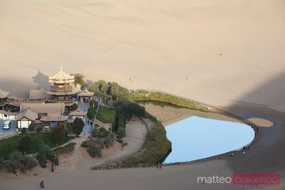 Crescent moon lake oasis, Dunhuang, China