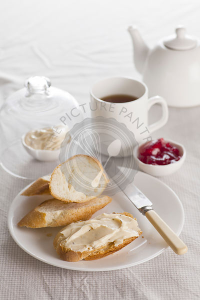 Breakfast of Spread, Jam and bread