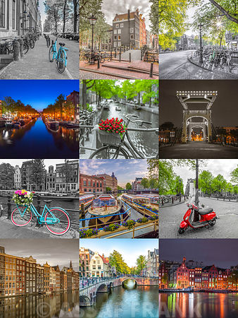A collection of Amsterdam images