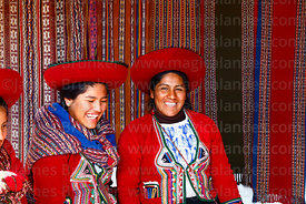 Quechua woman wearing traditional dress in Chinchero, Sacred Valley, Cusco Region, Peru