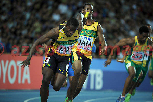 4x100 men's Jamaican Team at the 2011 IAAF World Championships,Athletics,Daegu,S.Korea