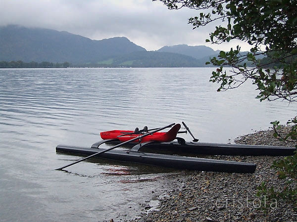 ROCAT #1 on the shore of Coniston Water in Cumbria