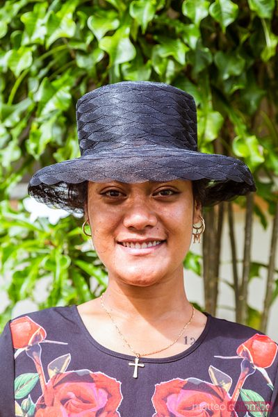 Portrait of local polynesian girl, Cook Islands
