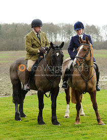 Mark & Tessa Rollinson - his first days hunting on his daughter's horse - The Belvoir at Burton Pedwardine