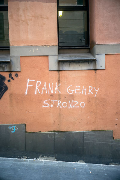 Satirical Graffiti Outside The Faculty Of Architecture Genoa