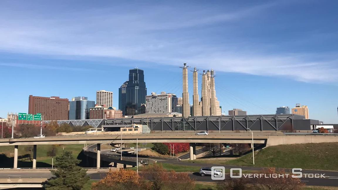 Timelapse of Kansas City Missouri Cityscape and Freeway