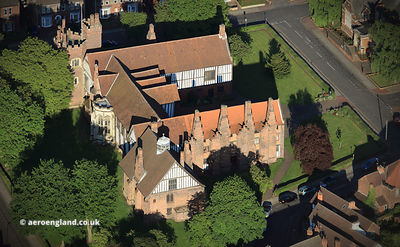 Gainsborough Old Hall Lincolnshire aerial photograph