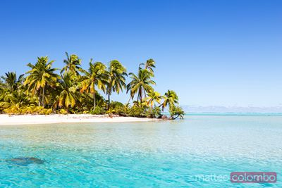 Famous beach on One Foot Island, Aitutaki, Cook Islands