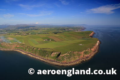 aerial photograph of St Bees Head in the Lake District  Cumbria England  UK
