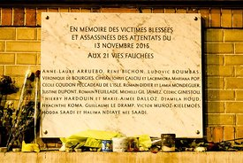 Paris - Tribute to the attacks of November 13, 2016.