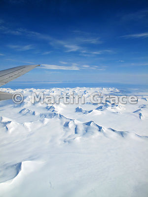 Svalbard Ice-cap from the air