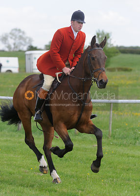 Hunt staff on their way to the start - Meynell and South Staffs at Garthorpe, 2nd June 2013