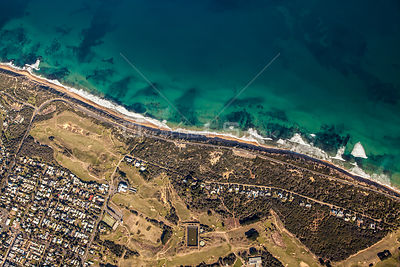 Vertical aerial view of Barwon Heads in Victoria Australia
