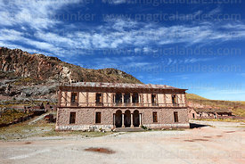 Abandoned mansion that used to belong to Machicado family, now a house, Comanche, La Paz Department, Bolivia