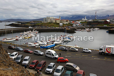 The harbour at Stykkisholmur, Snaefellsnes, West Iceland
