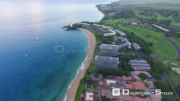 Hotel Resorts on Hanakaoo Point Kaanapali West Maui Hawaii Drone Video