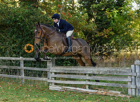 Lara Hellyer jumping a hunt jump near Temple Hill - Fitzwilliam Opening Meet 2016