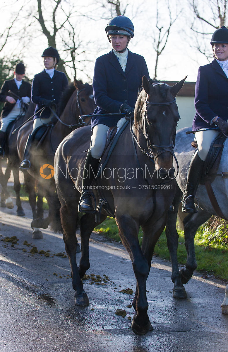 The field arriving at the meet - The Quorn Hunt at Swan Lodge 16/12
