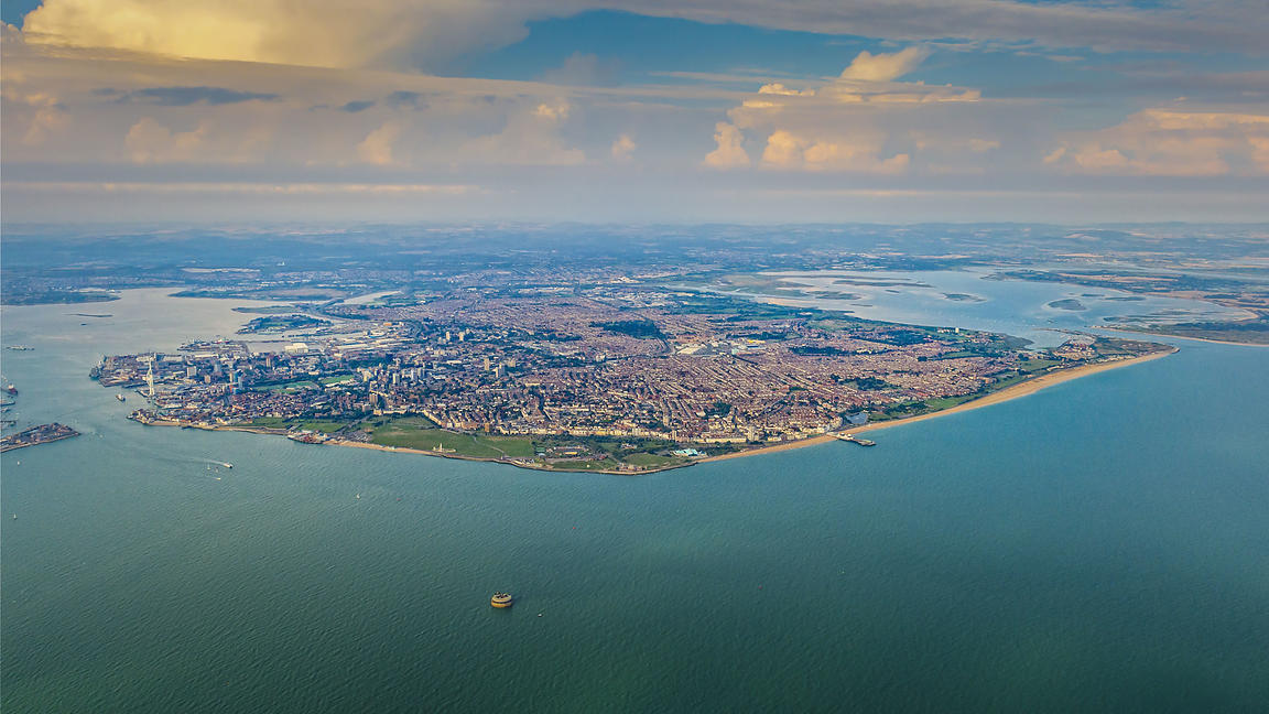 Aerial View of Portsmouth Island & South Coast