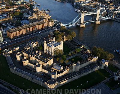 Aerial photo of the Tower of London