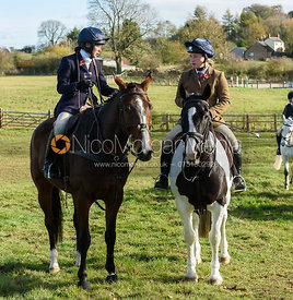 Sophie Walker at the meet. The Cottesmore Hunt at Tilton