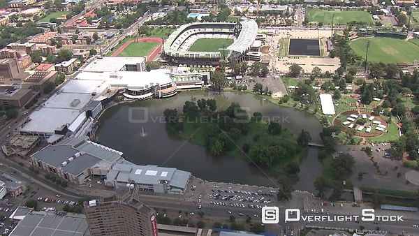 Aerial shot of the Free State Stadium in Bloemfontein Bloemfontein Free State South Africa