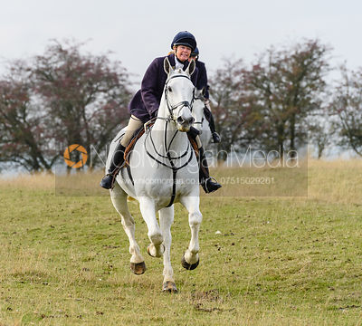 Monica Tebbutt-Wheat above Braunston. The Cottesmore Hunt at Braunston