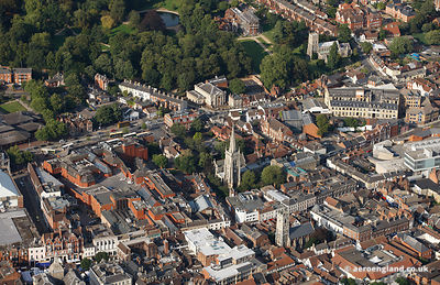 aerial photograph of  Ipswich town