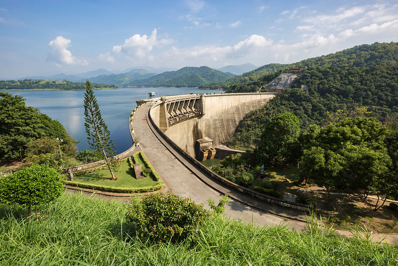 Elevated View of Victoria Dam and Reservoir