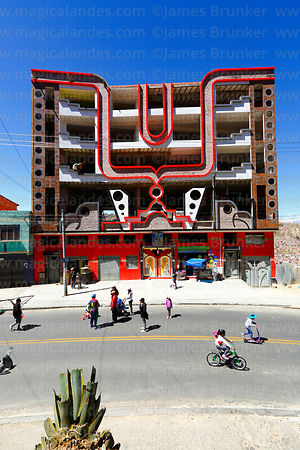 "Partially built ""cholet"" building in Periferica district, La Paz, Bolivia"