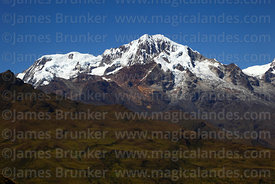 Glaciers of Pico del Norte (L) and Mt Illampu, Cordillera Real, Bolivia