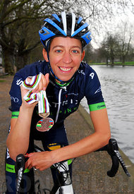 Helen Wyman the 2x european and 8x British Cyclo-Cross Champion in Bedford for the launch of the women's cycle tour