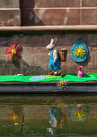 Easter Decoration on a Canal in Colmar