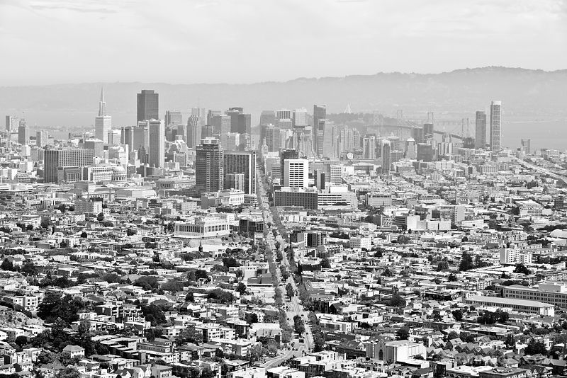 SAN FRANCISCO SKYLINE BLACK AND WHITE