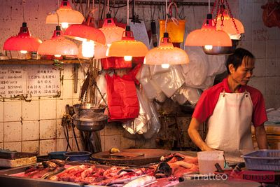 At the fish market in Hong Kong