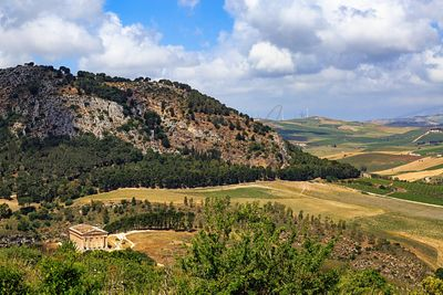 Segesta Sicily Italy View of Temple Ruins
