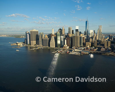 Aerial photogrpah of the  New York City Financial District