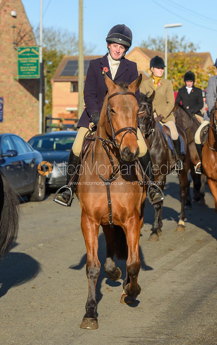 Jess Butler leaving the meet in Great Gidding