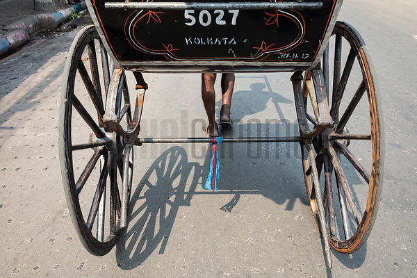 Rear View of a Hand Rickshaw