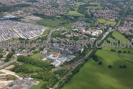 Manchester International Office Centre and Trident Business Park and Manchester Green on Styal road Heald Green looking towar...