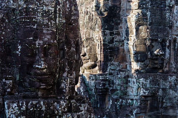 Stone Carved Heads at Bayon Temple