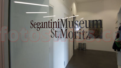 Segantini Museum in Saint Moritz in summer time.