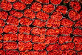 Roses at Dadar Flower Market  Mumbai 2015: Photographer Neil Emmerson