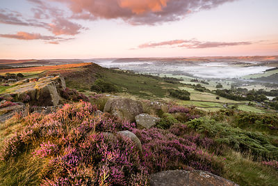 Curbar Edge summer sunrise