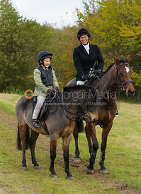 Vix Welton and Olivia Hunnisett - The Cottesmore Hunt at Tilton on the Hill, 9-11-13