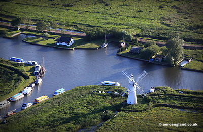 aerial photograph of Thurne Windmill, Norfolk