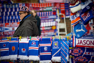 Rangers FC scarf stand
