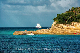 Sailing yacht in Anguilla