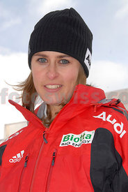 Barbara Hosch on Skeleton in Olympia Bob Run of Saint Moritz
