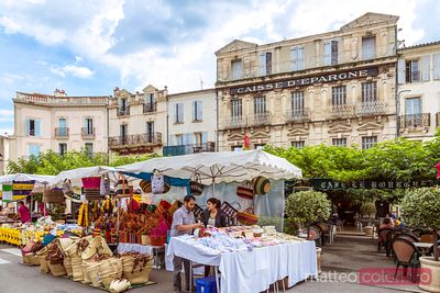 Local farmers market in the old town, Forcalquier, France